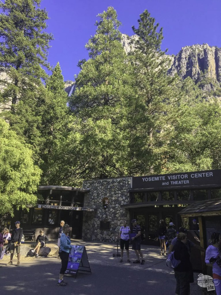 We stopped at the Yosemite Valley Visitor Center before starting the Yosemite Valley Loop Trail