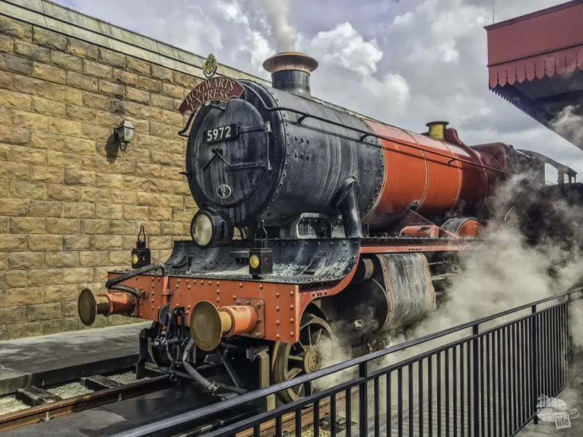 The Hogwarts Express connects the two parks and provides a different experience based on the direction you ride it.