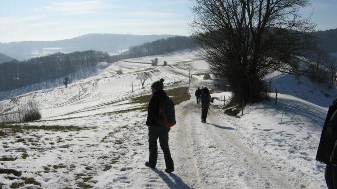 Winterwanderung im Kanton Aargau