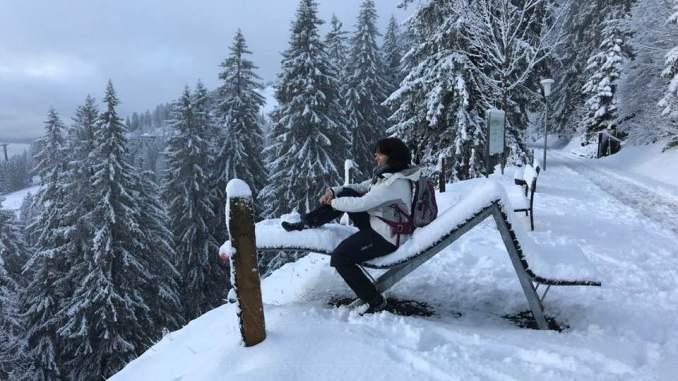 Auf der Rigi im Winter