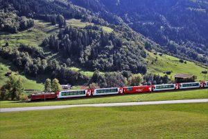Wandergruppe in der Schweiz