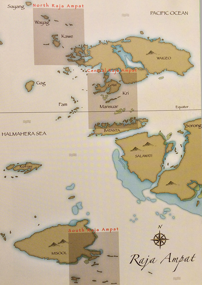 Raja Ampat Map