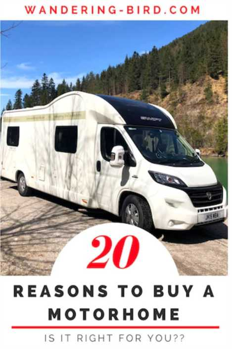 Thinking of buying a Motorhome? Wondering if it's right for you? Here are 20 reasons why you should!! #motorhome #travel #tips #roadtrip #reasonstobuyamotorhome #rv