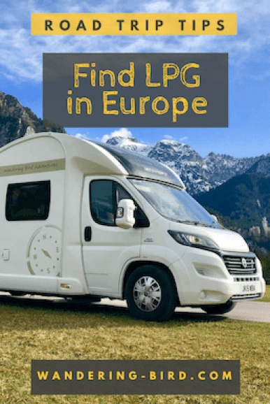 Looking to find LPG in Europe? Need gas for your motorhome or campervan? Here's how we find LPG in Europe for our road trips and motorhome travels. #lpg #europe #motorhome #travel #roadtrip #gas
