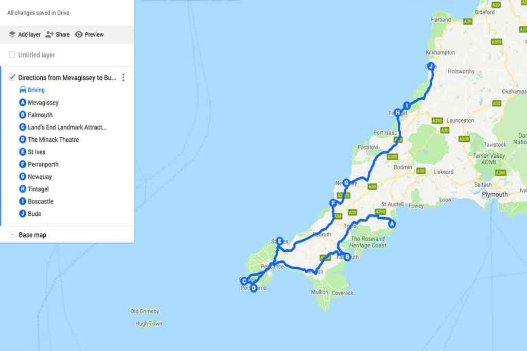 Looking for the best places to see on a Cornwall Road Trip? Here are 40 UNMISSABLE places to see in Cornwall to make your road trip the best it can be! #map #cornwall #roadtrip