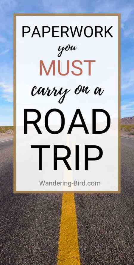 Road Trip paperwork checklist
