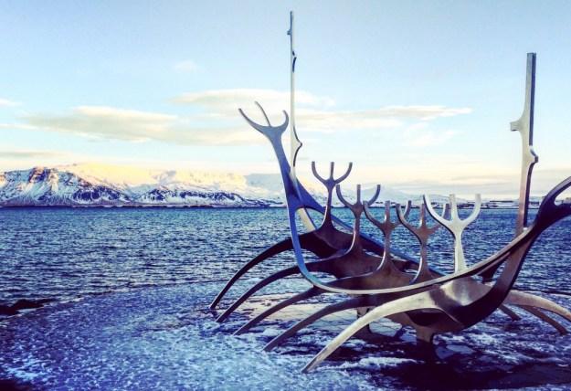 Solfar Sculpture 24 hours in Reykjavik