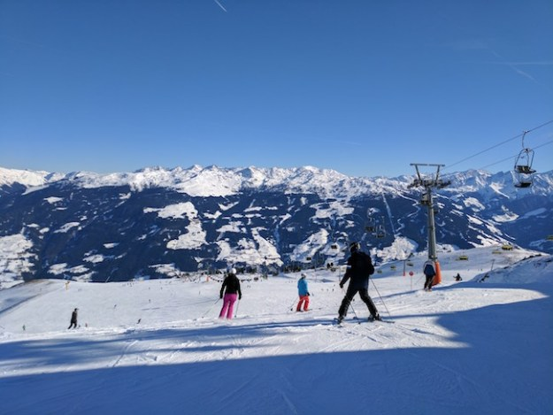 Skiing and snowboarding in the Austrian Alps from Munich
