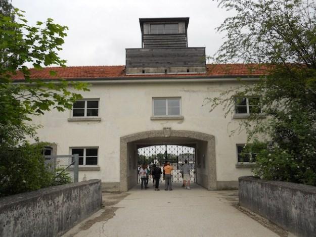 Day trip from Munich to Dachau entrance Wandering Chocobo