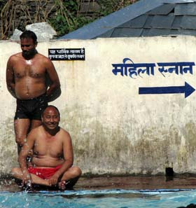 Public pool in McLeod Ganj, India