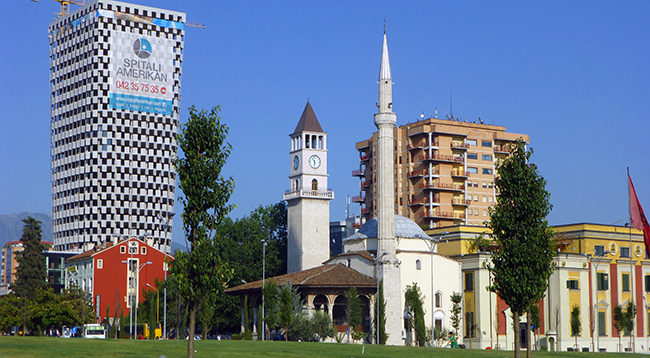 Clock Tower In Albania - Tirana Clock Tower, Albania