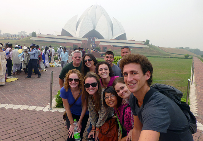 Group at Lotus Temple
