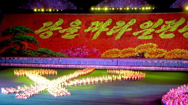 Mass Games in Pyongyang, North Korea 2013