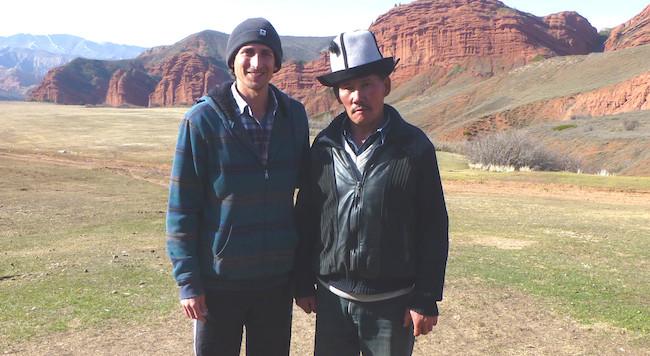 Traveling in Kyrgyzstan - Jeti Oguz shepherd