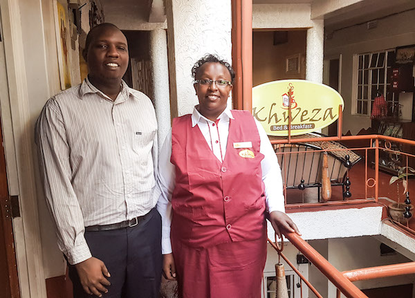 Budget Hotel in Nairobi - excursion staff