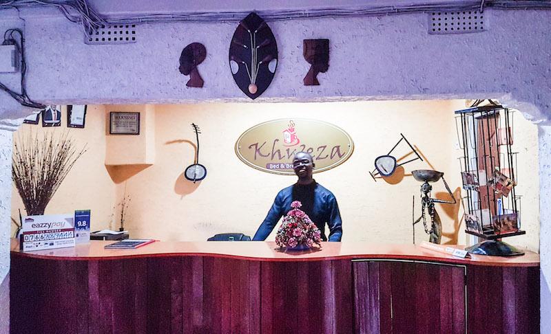 Budget Hotel in Nairobi - reception