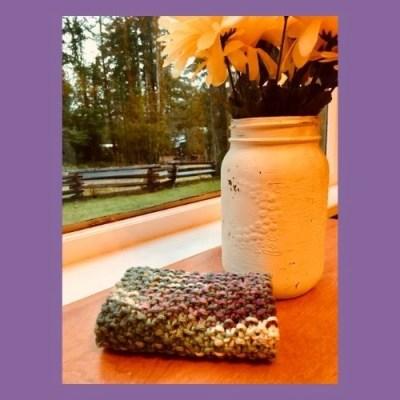 seed stitch knit dishcloth