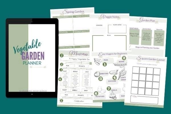 vegetable garden planner mock up pages
