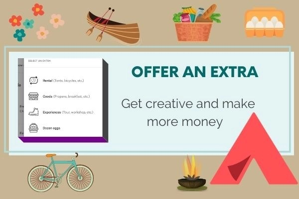 ideas for offering extras on your property as a hipcamp host
