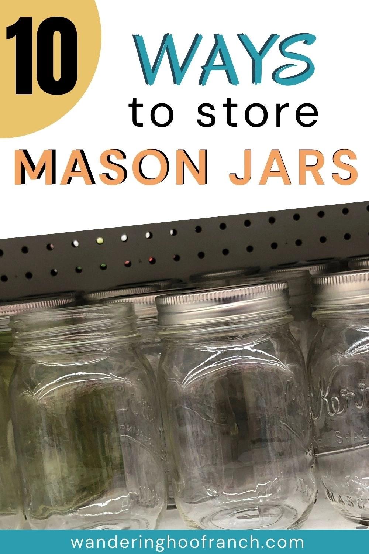 best mason jar storage solutions, shelf with mason jars