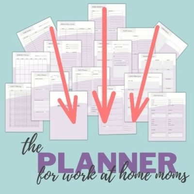 the planner for work at home moms