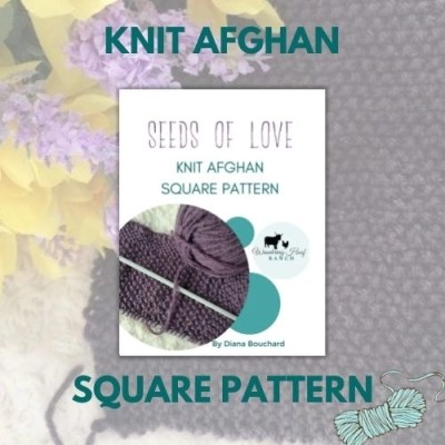 knit afghan square pattern