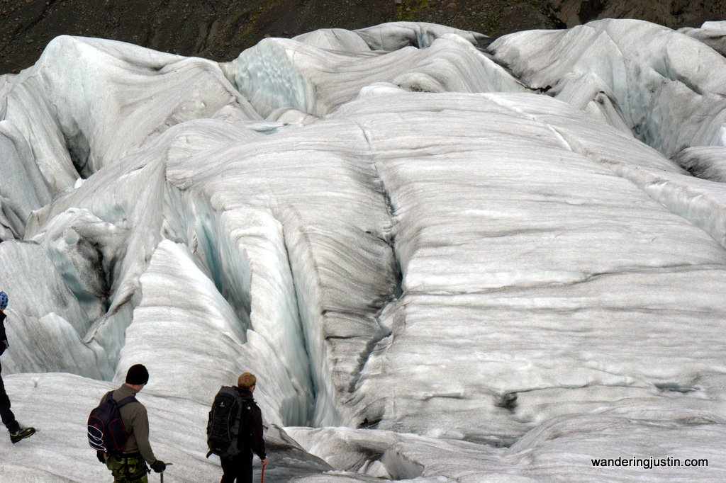 Scenes from a Glacier in Iceland