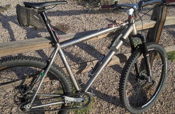 aSinglespeed bike ready to race at jangover