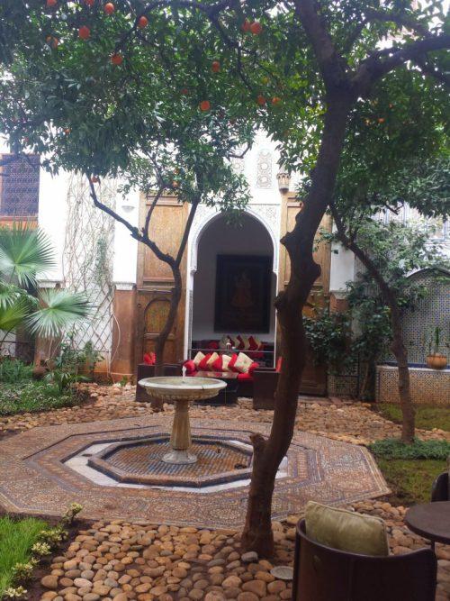 Courtyard at Riad Laroussa