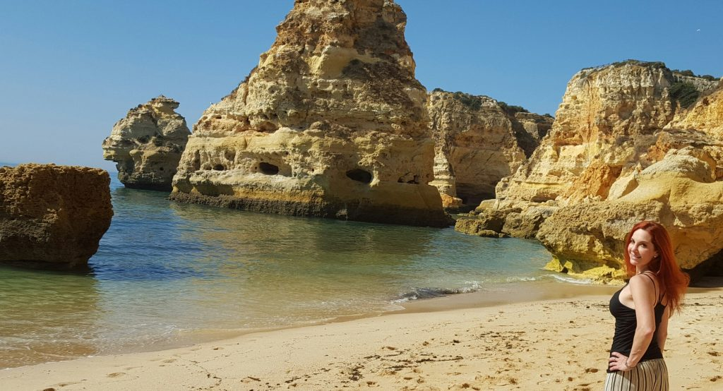 Praia do Marinha, Portugal, Wanderingredhead