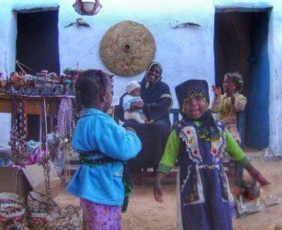 Nubian family Aswan, Egypt