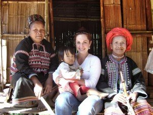 Tribal village with ethnic minorities in northern Thailanf