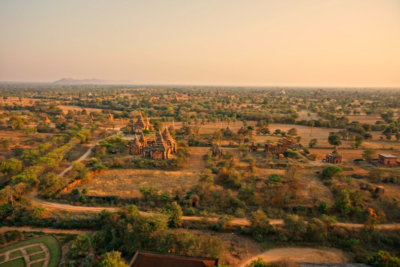Sunrise and Sunset in Bagan