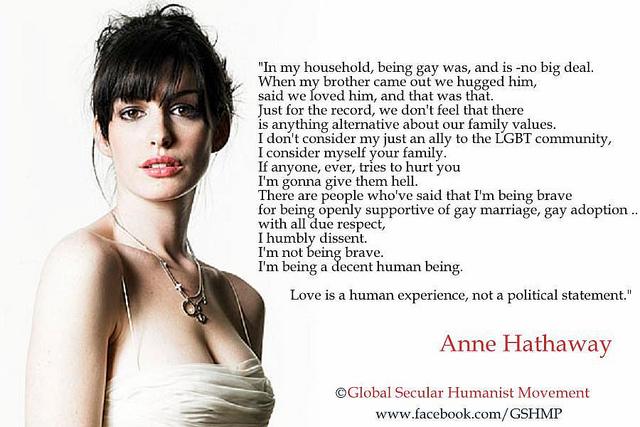 Is anne hathaway gay