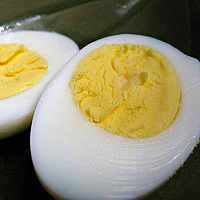 "Baking ""hard boiled"" eggs"
