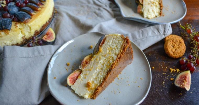 Fig & Gingersnap Cheesecake