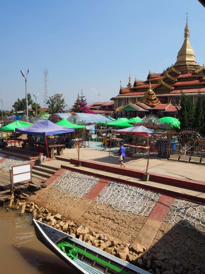 Hpaung Daw U Pagoda on Inle Lake