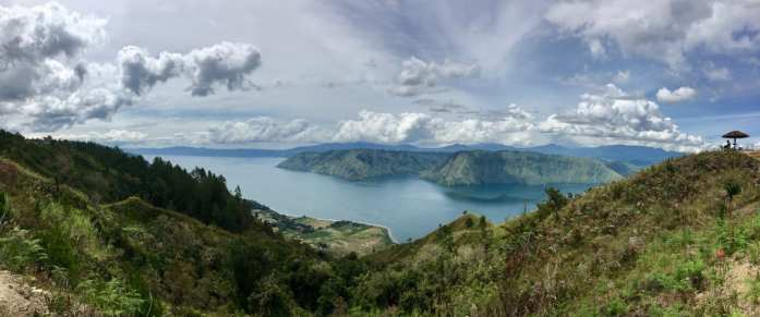 Lake Toba from above