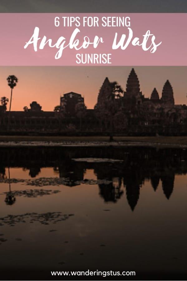 Sunrise tips for Ankgor Wat