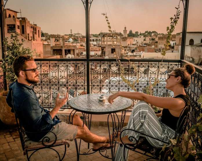 Mint Tea and A Sunset in Morocco