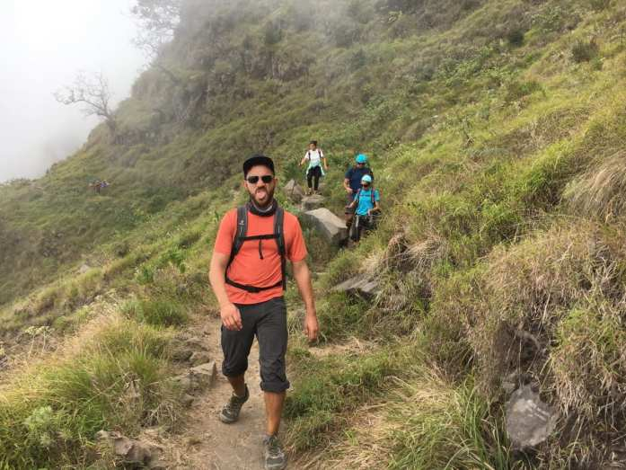 Jesse feeling the Rinjani trek burn