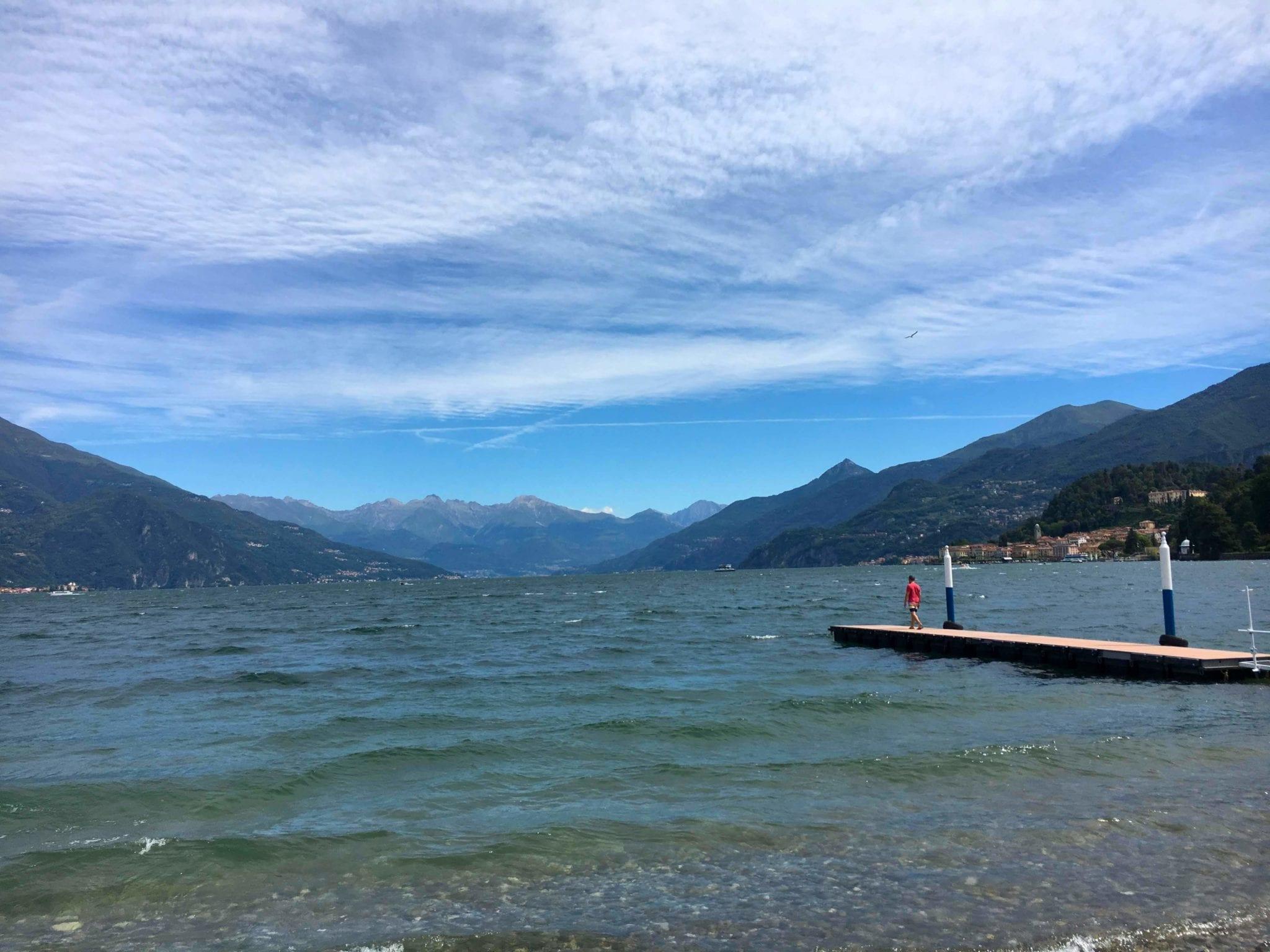 Enjoying Lake Como