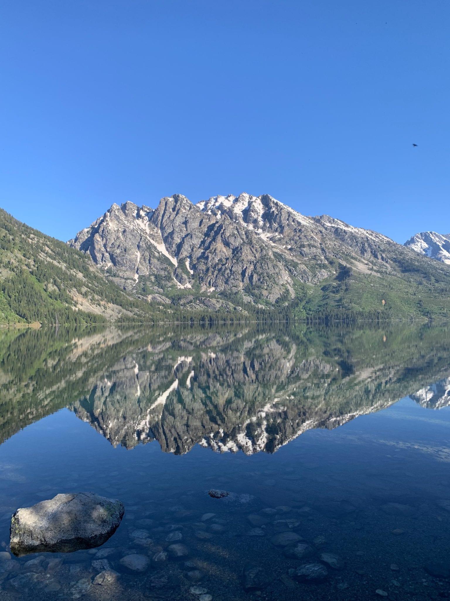 Grand Teton reflection in Jenny Lake