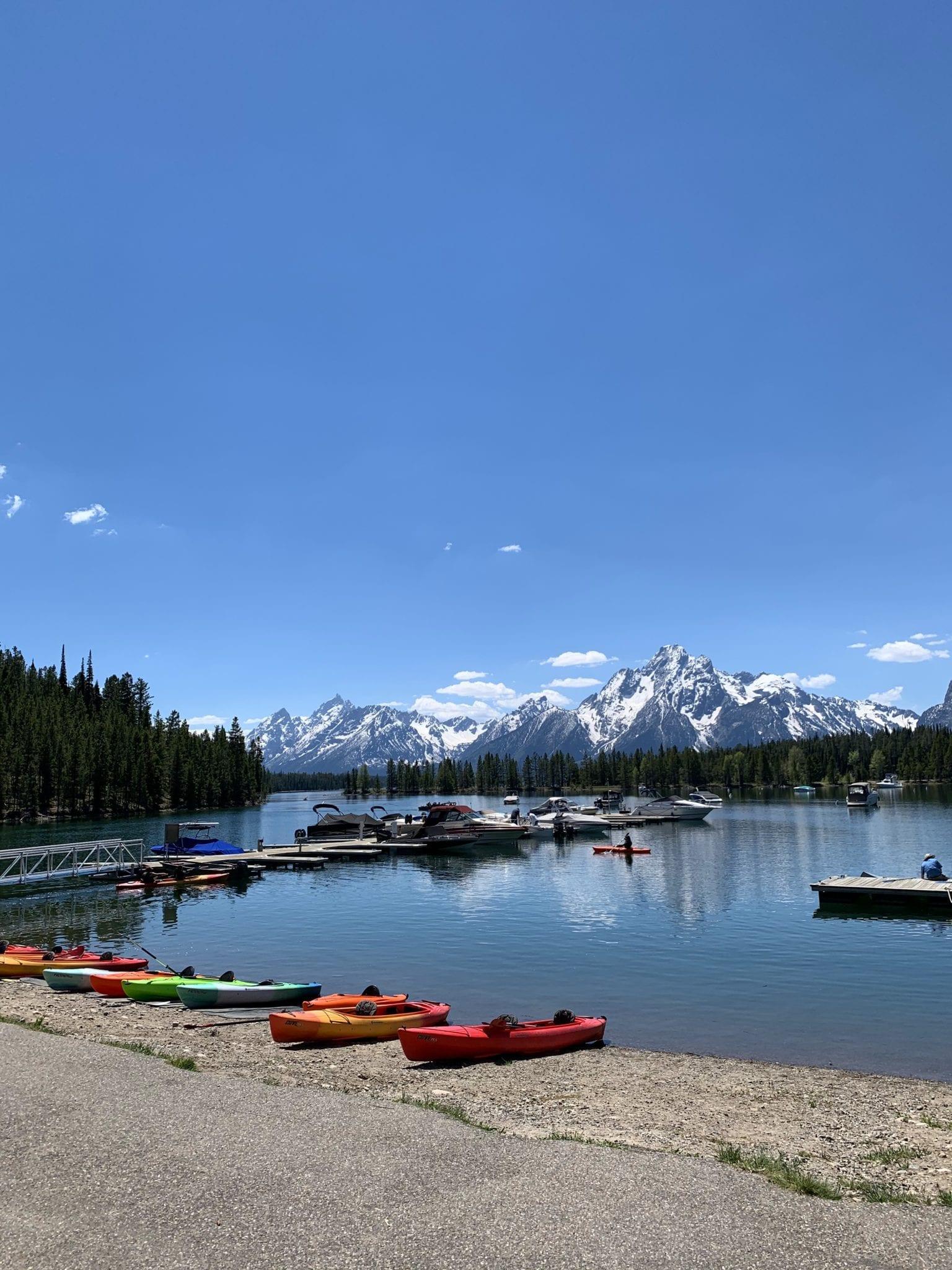Jackson Lake Marina in Grand Tetons National Park