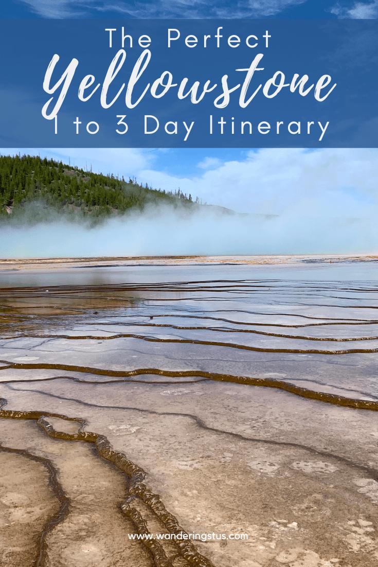 Yellowstone Itinerary Pin