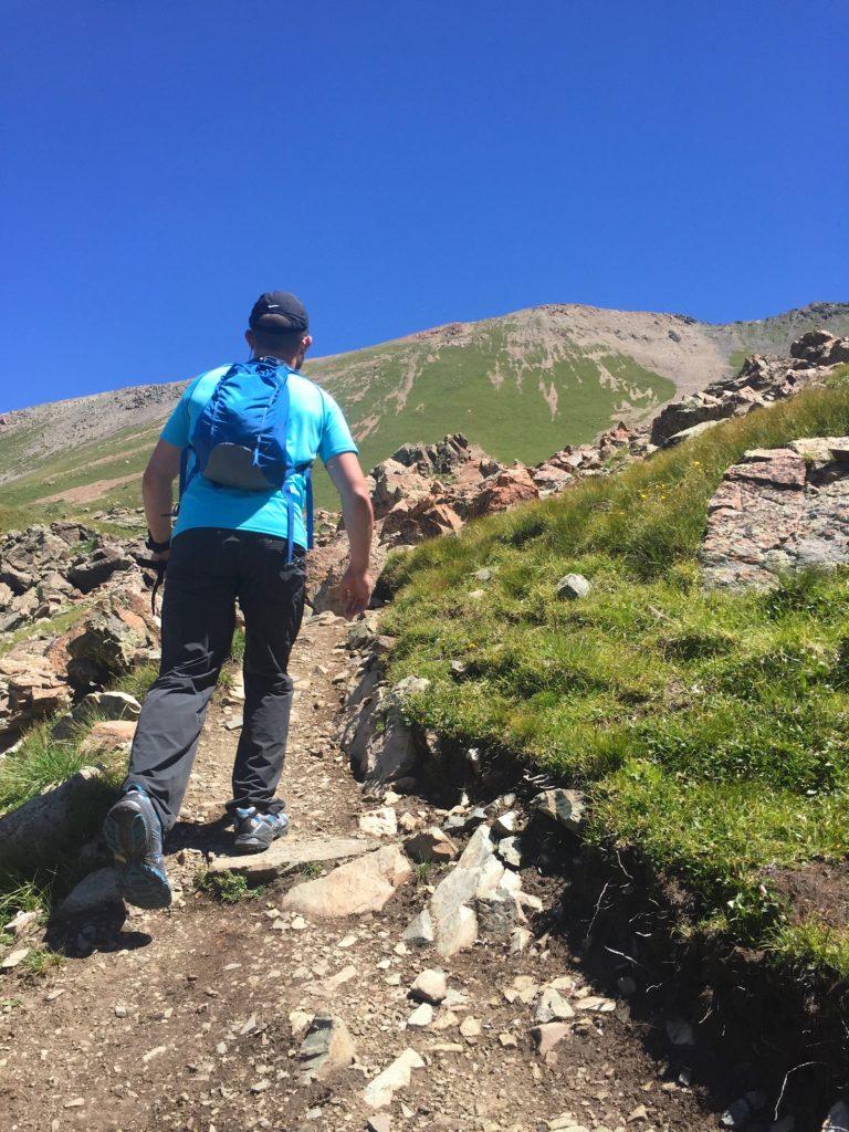 Hiking up to the summit of Wheeler Peak