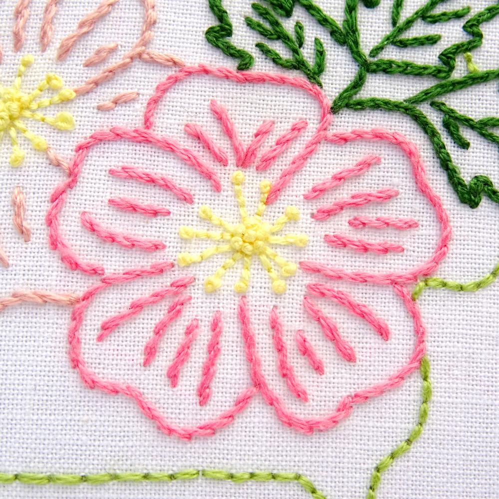 iowa flower hand embroidery