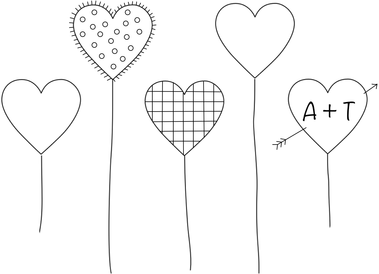 5 free heart embroidery