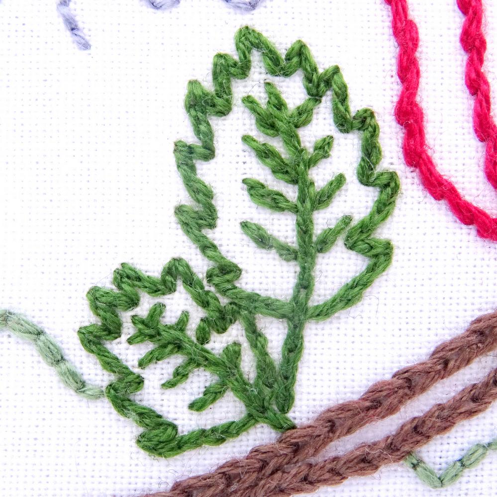 oklahoma flower hand embroidery