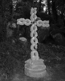 a celtic style cross in the woods near Sintra, Portugal